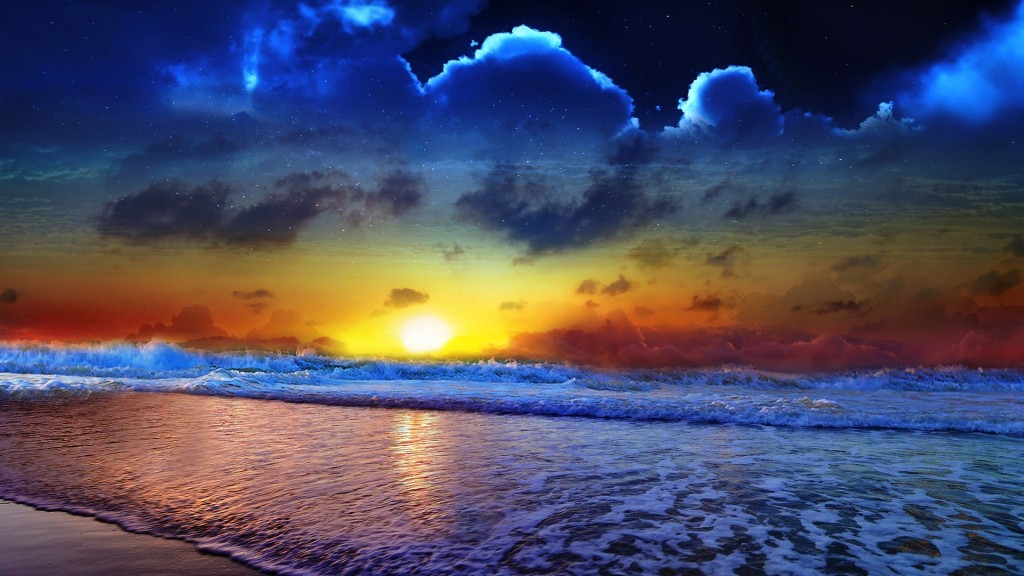 sunsets-amazing-sunset-nature-sky-clouds-reflection-waves-beautiful-seascape-line-desktop-images